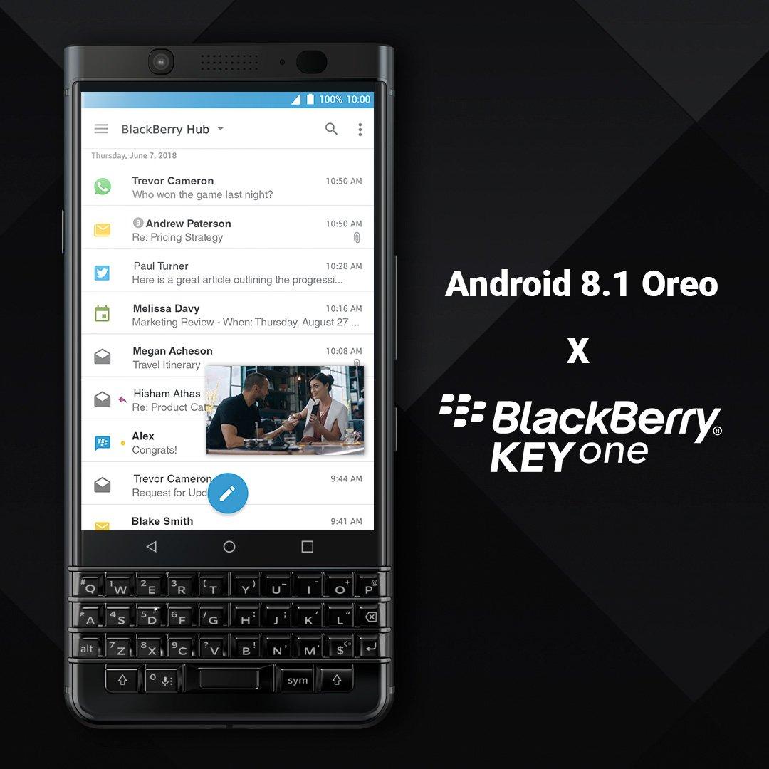 Beginn Roll Out Android Oreo Fr Blackberry Keyone Bbugks Nach Einer Kurzen Beta Phase Beginnt Der Von Das