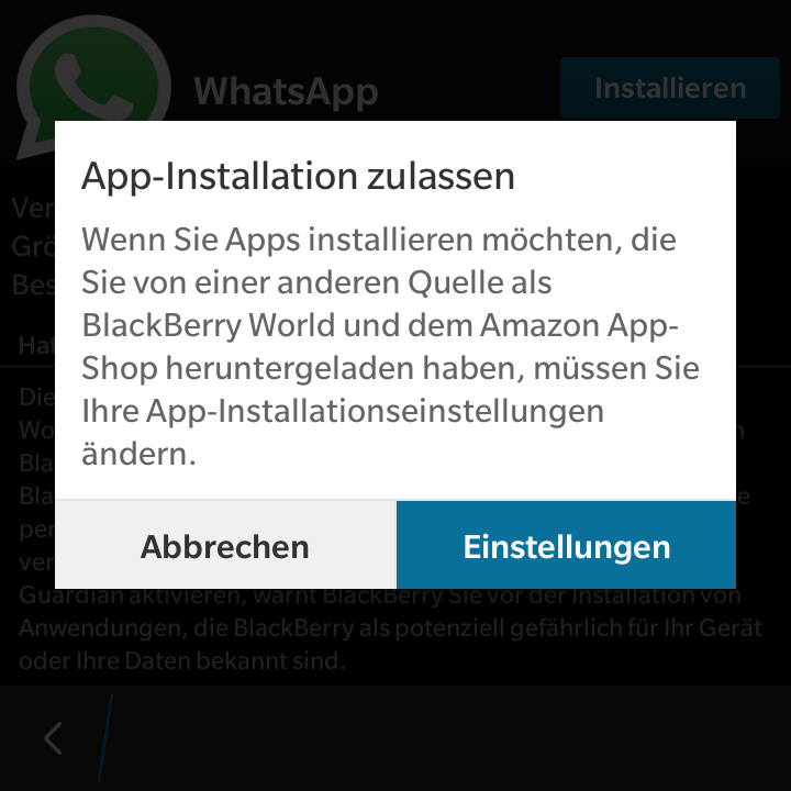 WhatsApp für Android unter BlackBerry OS10 nutzen | BBUGKS