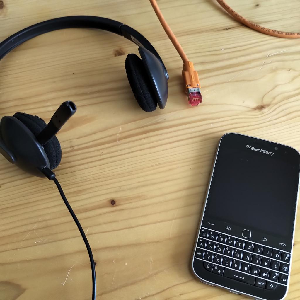 BlackBerry und Headset